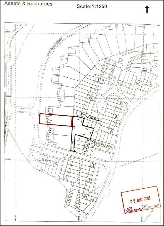A Site Location Plan rejected by Council for planning purposes